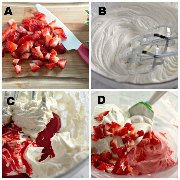 strawberry fat bomb recipe step by step collage