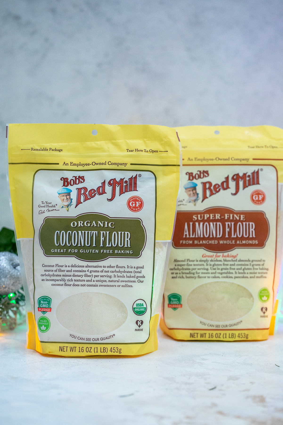 coconut flour bag and almond flour bag