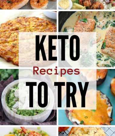 collage with 10 keto recipe photos