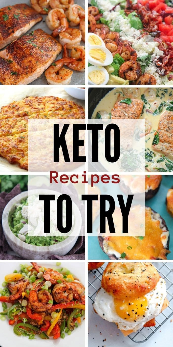collage with 10 keto recipe photos