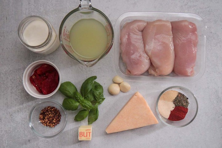 ingredients for marry me chicken.