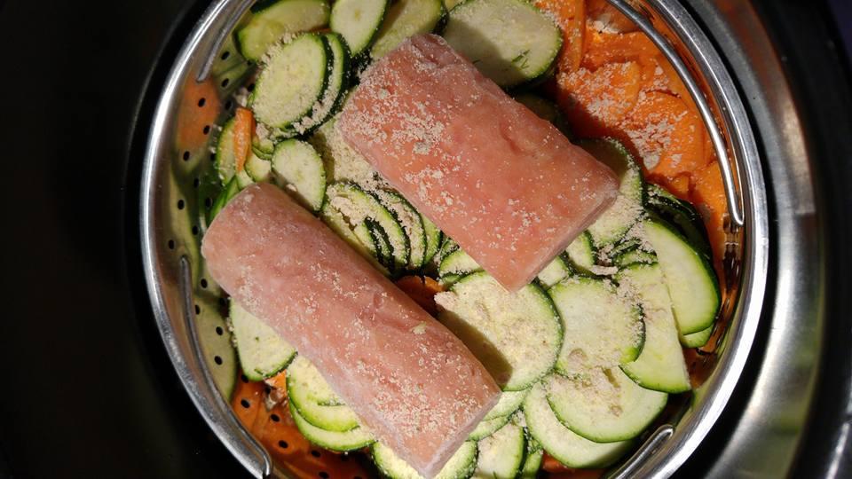 saumon carottes courgettes et riz de thierry au multicuiseur cookeo