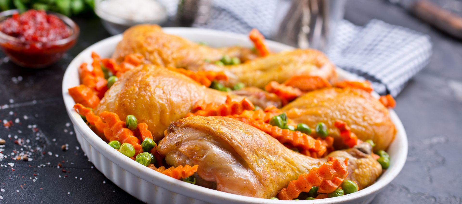 pilons de poulet petits pois carottes au robot multi cuiseur cookeo