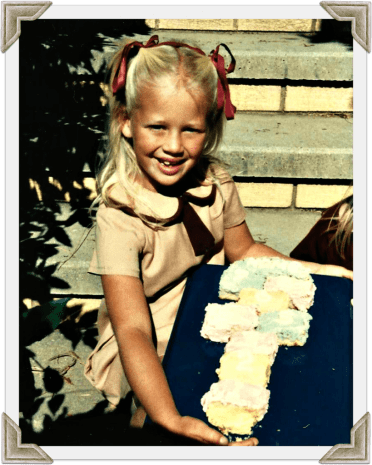 Mum made the hopscotch cake for my sixth birthday