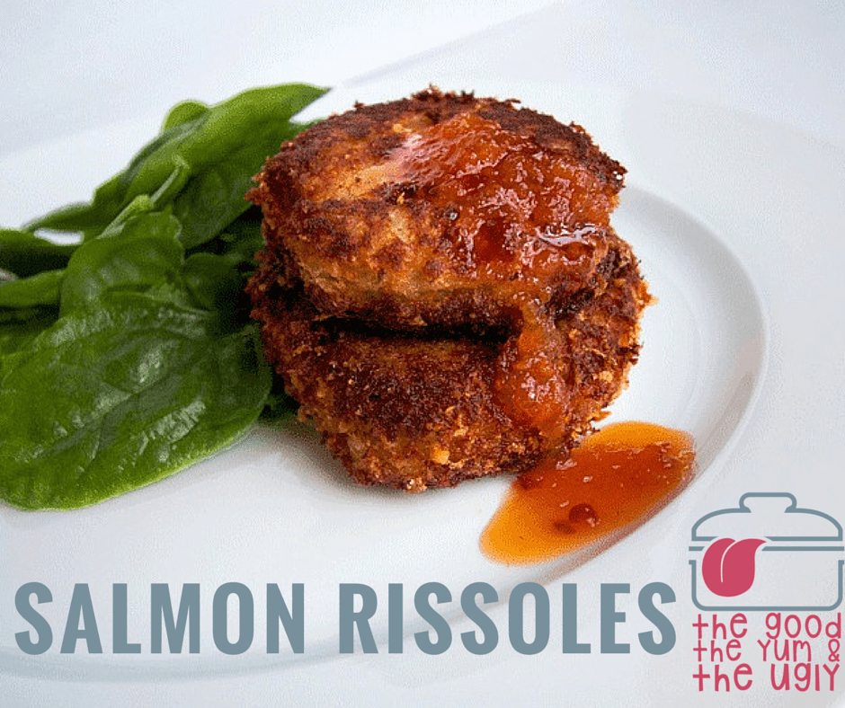 salmon rissoles_ the good the yum and the ugly