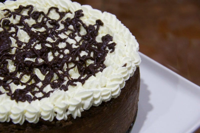 baked chocolate rum cheesecake recipe