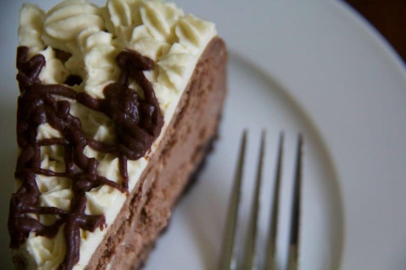 chocolate rum cheesecake