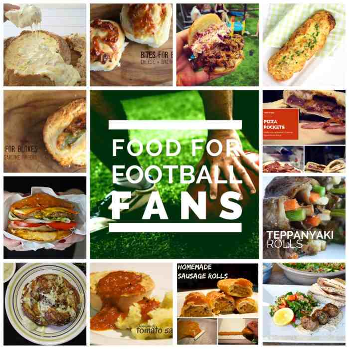 food for football fans social