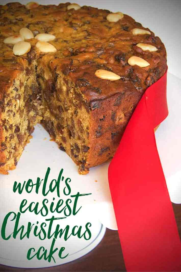the world's easiest Christmas cake recipe