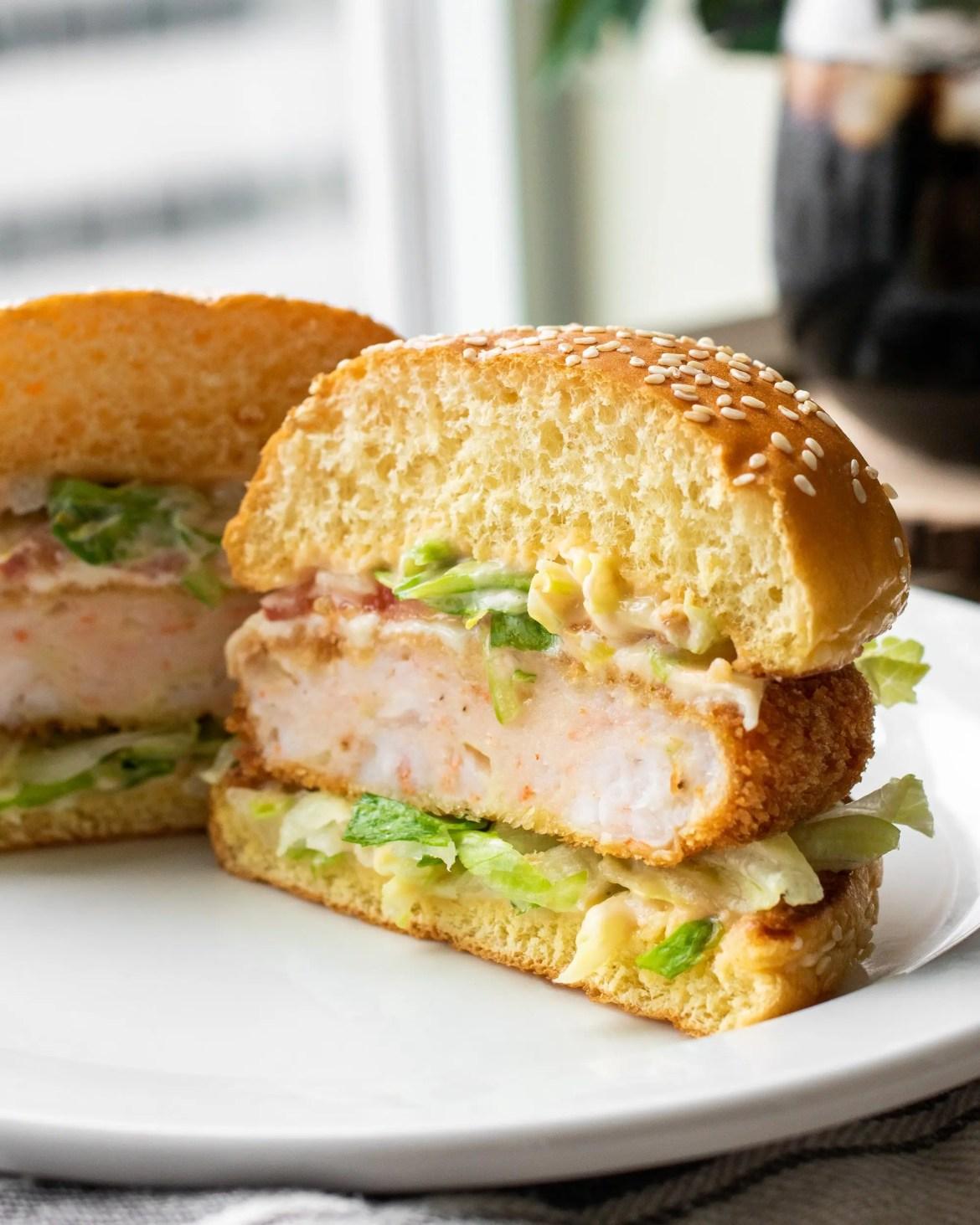 Korean Shrimp Burger