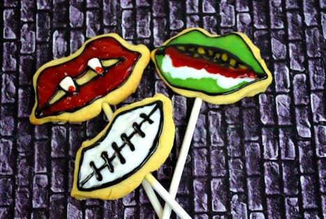 Halloween Funny Face Cookies