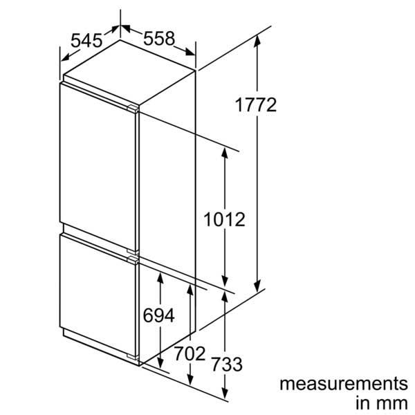 Buy Neff Integrated (Built-In) 177cm Fridge freezer