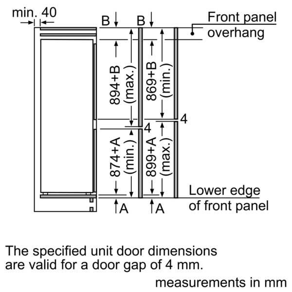 Buy Neff Fully Integrated Fridge freezers 177cm KI7853D30G