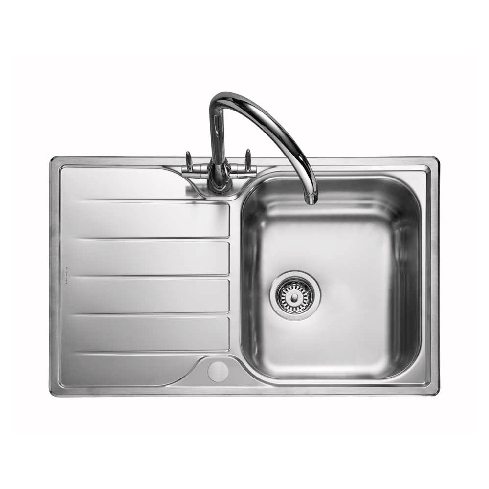 single bowl stainless kitchen sink cost for new cabinets rangemaster michigan mg8001 steel