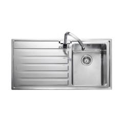 Single Bowl Stainless Kitchen Sink Kitchenaid Rangemaster Rockford Rk9851l Steel Left