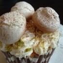 Meringue mushroom cupcake