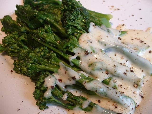 Broccoli florets. Sprouting broccoli