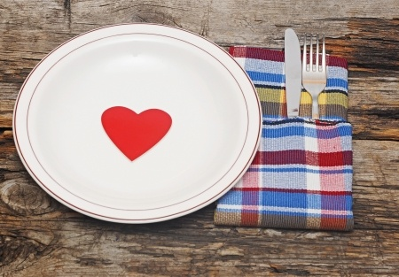 Valentines Day place setting