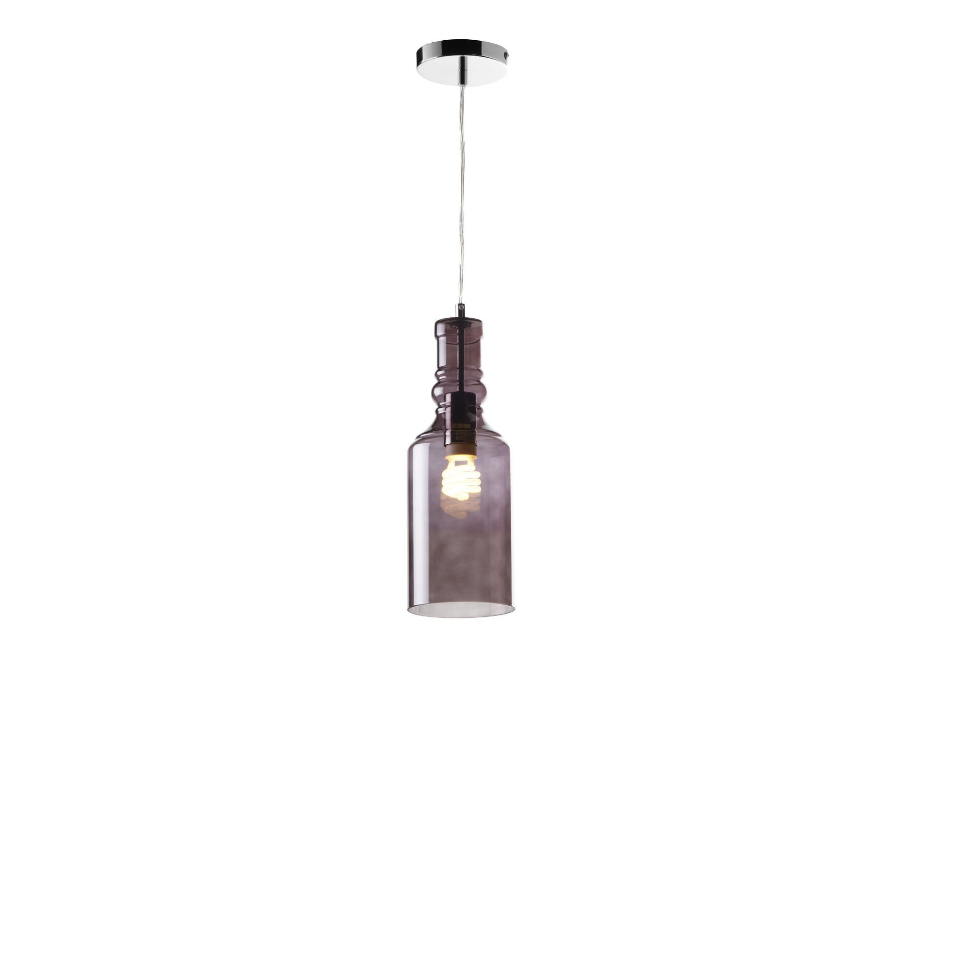Chrome  Smoked Glass Pendant  Ceiling Lights  Cookes