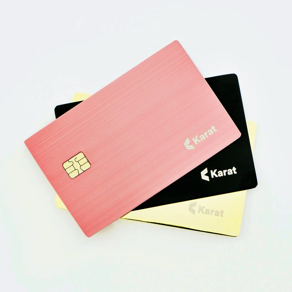 karat-credit-card-black-gold-pink-for-freelancer-blogger-influencer-youtuber-startup-review