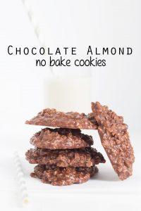 Chocolate Almond No Bake Cookies