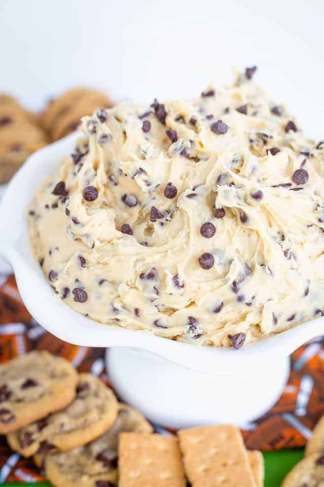 cookie dough dip in a bowl