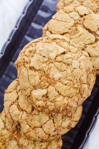 cookies on a black platter