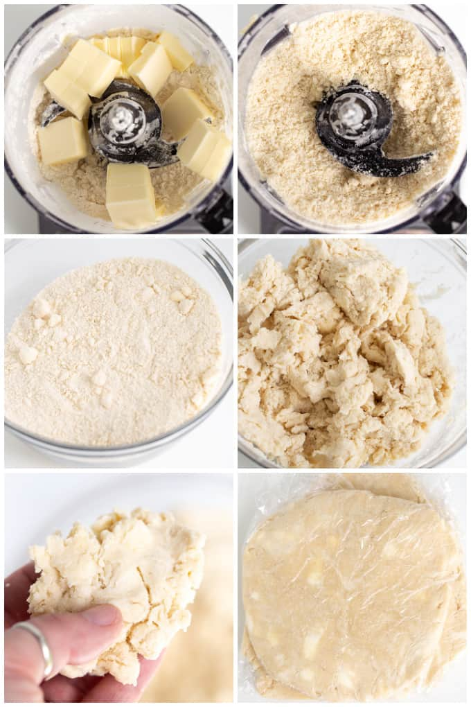 collage showing how to make the pie crust