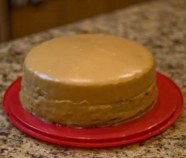 Yellow Cake Caramel Icing