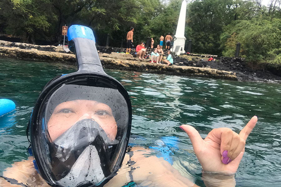 Things to do on the Big Island of Hawaii | Snorkeling at Kealakekua Bay near the Captain Cook Monument