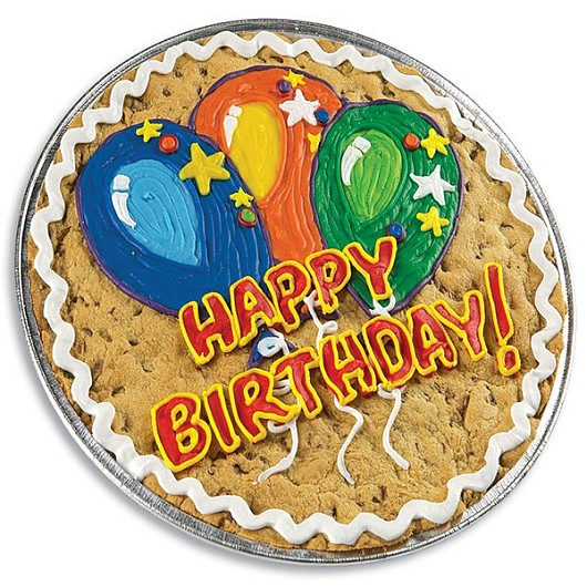 Birthday Balloons Cookie Cake Giant Cookie Cookies By