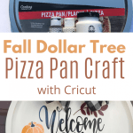 Fall Dollar Tree Pizza Pan Craft Cookies Coffee And Crafts