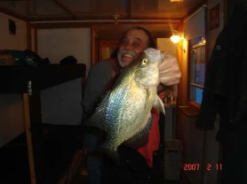 Cookie posing with his crappie