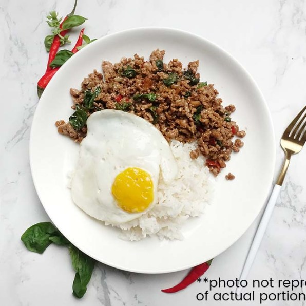 Thai Basil Pork with Rice