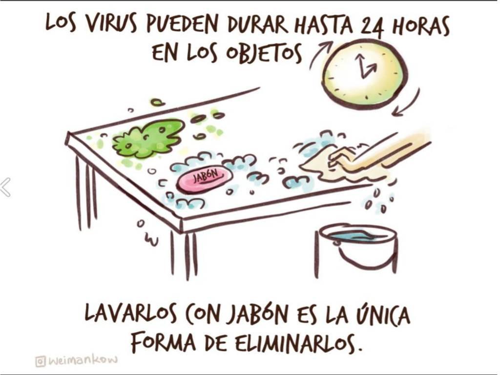 Lavar los objetos con jabón para prevenir el coronavirus
