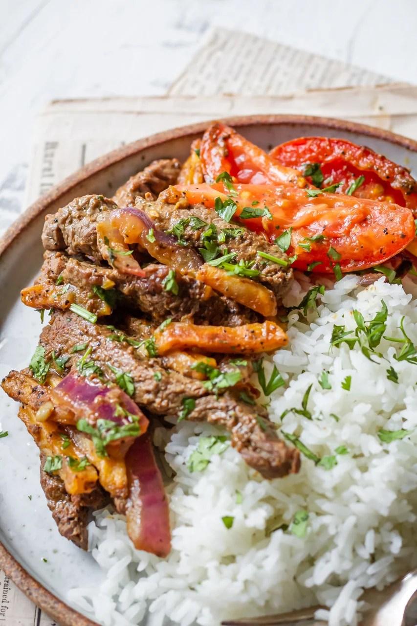 Lomo Saltado (Peruvian Beef Stir Fry) - Cooking Therapy