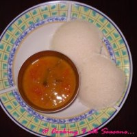 Idli with Vengaya Sambar | Basic Idli Recipe with Onion Sambar