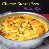 Cheese Burst Pizza Recipe | How to make Domino's Cheese Burst Pizza