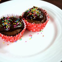 Mocha Chocolate Coffee Cupcakes ~ Eggless