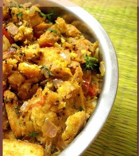Bread Upma – How to Make Bread Upma