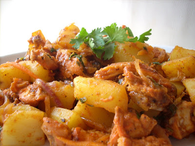 Tandoori Aloo Chicken | Tandoori Chicken with Potatoes Recipe