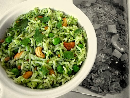 kothamalli sadam - south indian coriander rice recipe
