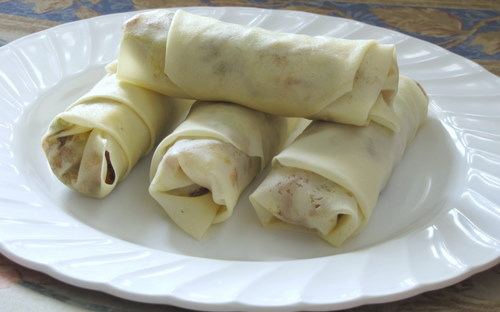 vegetable spring rolls, how to make vegetable spring rolls recipe