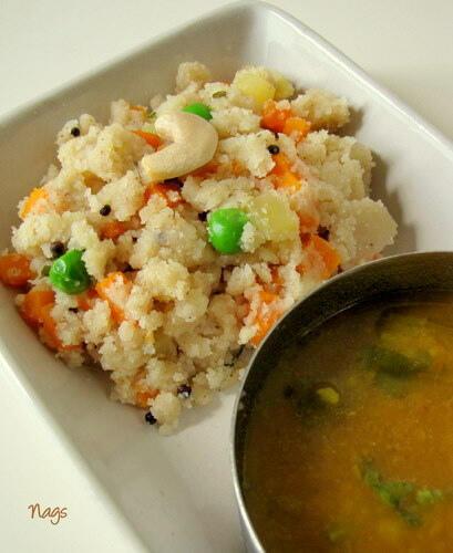 Vegetable Rava Upma Recipe-Easy Rava Upma Recipe