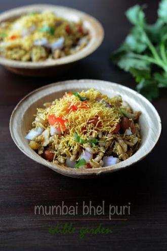 quick and easy indian snacks - bhel puri recipe