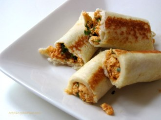 quick and easy indian snack recipes - bread paneer rolls