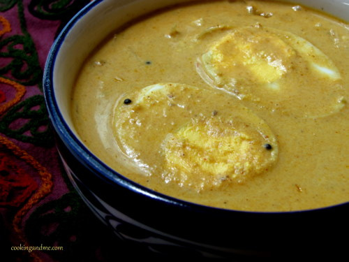 Malabar Egg Curry in Coconut Milk Recipe