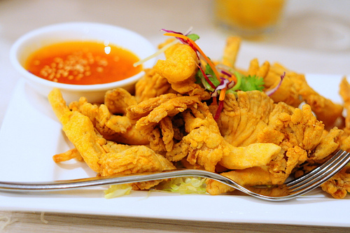 Thai Battered Oyster Mushrooms with Citrus Sauce