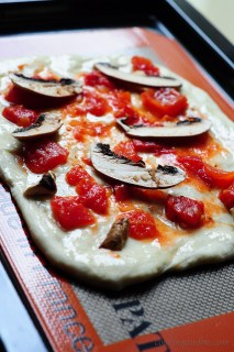Pizza from Scratch with Gouda Cheese