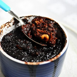 Eggless Chocolate Coffee Self Saucing Pudding Recipe